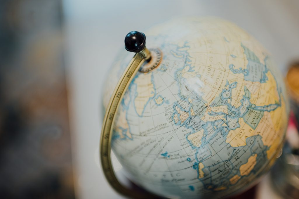 A globe, to describe the importance of expanding the horizons of one company.